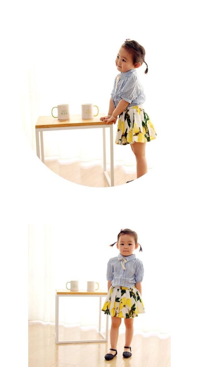 6f9d905d04f1e 子供服 キッズ女の子 スカート プリーツスカート ふんわり レモン柄 ...