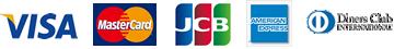 クレジット:VISA・MasterCard・JCB・AMERICAN EXPRESS・Diners Club・DISCOVER