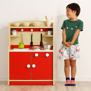 組立品 ままごとキッチン おままごキッチン ままごと キッチン 木製 知育玩具 おもちゃ Mini Cook(ミニクック) 5色対応|superkagu|24