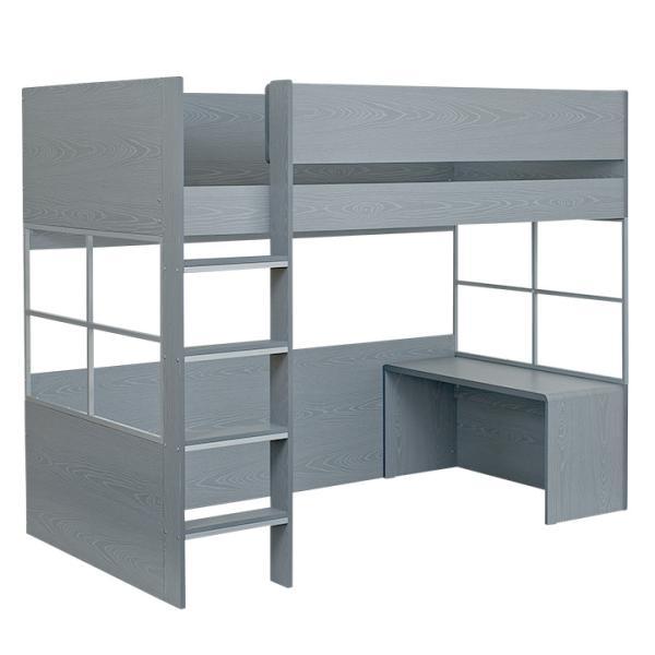 ハイタイプ ロフトベッド システムベッド 学習机 デスクベッド システムベッドデスク ロフトベット Peep(ピープ) 5色対応|superkagu|24