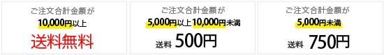 ご注文合計金額が10,000円以上で送料無料