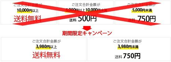 ご注文合計金額が3,980円以上で送料無料