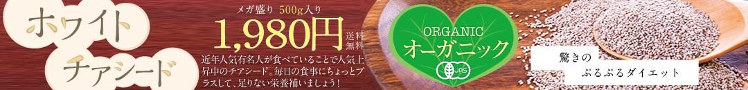 オーガニックのホワイトチアシード販売開始!!