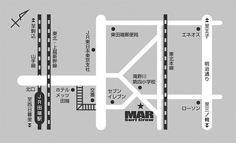 サーフショップMAR 店舗地図