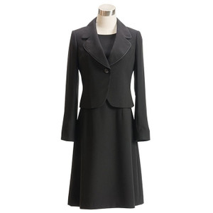 喪服 レディース 洗える ロング ブラックフォーマル スーツ 礼服 ワンピース  女性 20代 30代 40代 50代 大きいサイズ 小さいサイズ 送料無料 あすつく|sutekitaiken|24