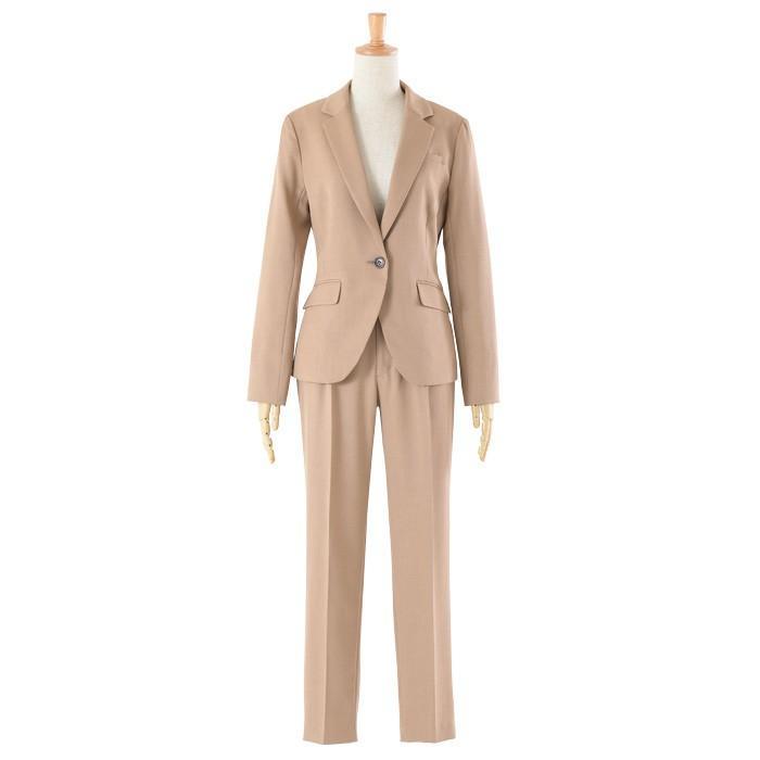 スーツ レディース パンツスーツ 洗える ストレッチ シャドーストライプ パンツ ビジネス オフィス 通勤 OL 女性 黒 紺 ネイビー 小さいサイズ 大きいサイズ sutekitaiken 26