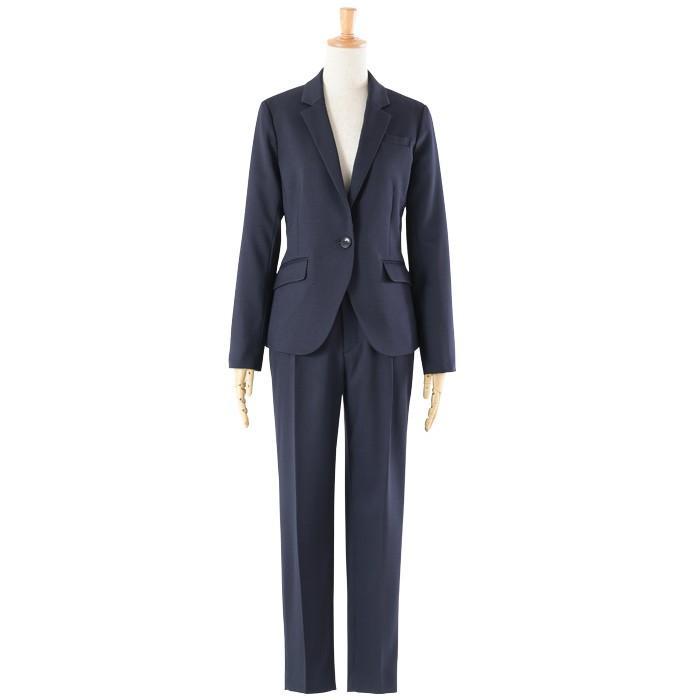 スーツ レディース パンツスーツ 洗える ストレッチ シャドーストライプ パンツ ビジネス オフィス 通勤 OL 女性 黒 紺 ネイビー 小さいサイズ 大きいサイズ sutekitaiken 25