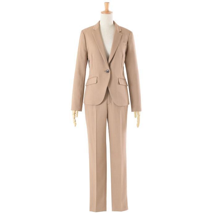 スーツ レディース パンツスーツ 洗える ストレッチ シャドーストライプ パンツ ビジネス オフィス 通勤 OL 女性 黒 紺 ネイビー 小さいサイズ 大きいサイズ sutekitaiken 23
