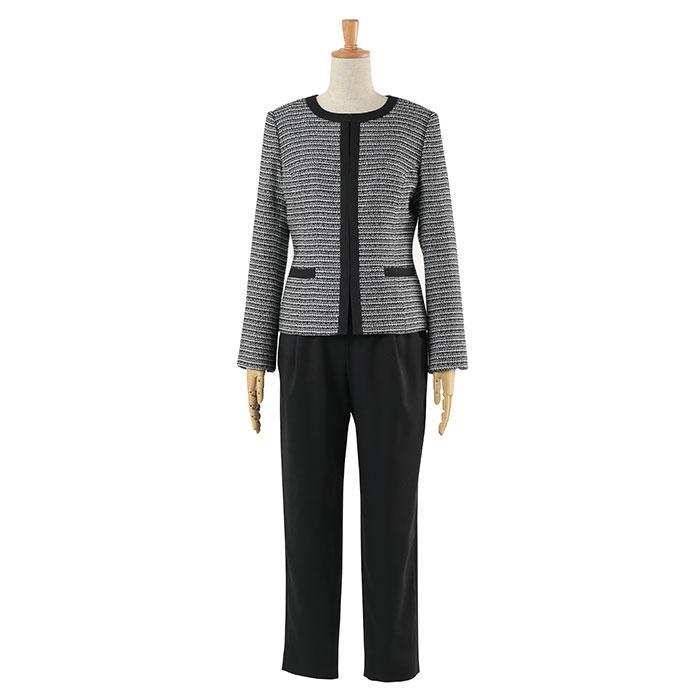 スーツ 卒業式 レディース 入学式 服装 ママ パンツスーツ 30代 40代 セレモニースーツ ワンピース 3点セット 大きいサイズ セットアップ|sutekitaiken|24