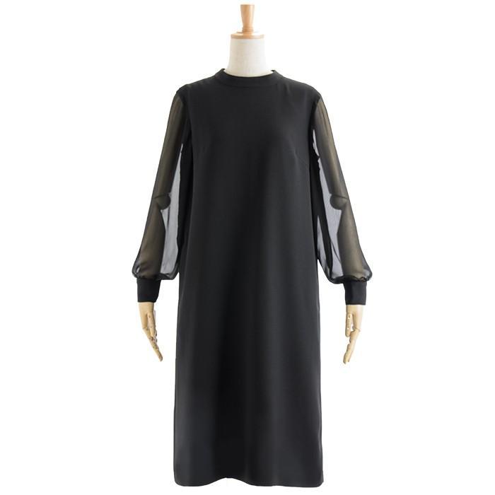 喪服 レディース 洗える ワンピース ブラック フォーマル 礼服 日本製生地 サマー 七分袖 長袖 20代 30代 40代 50代 大きいサイズ 小さいサイズ|sutekitaiken|24