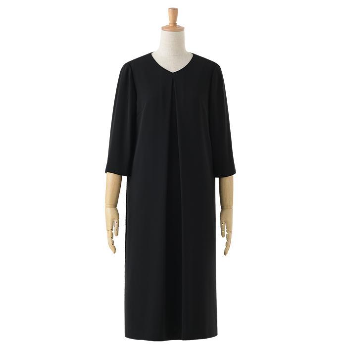 喪服 レディース 洗える ワンピース ブラック フォーマル 礼服 日本製生地 サマー 七分袖 長袖 20代 30代 40代 50代 大きいサイズ 小さいサイズ|sutekitaiken|25