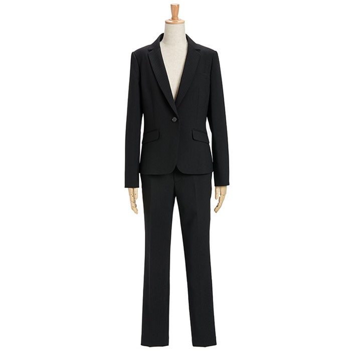 スーツ レディース パンツスーツ ビジネス リクルート ビジネス OL テーラード フルレングス丈 ストレッチ 女性 面接 大きいサイズ 小さいサイズ sutekitaiken 22