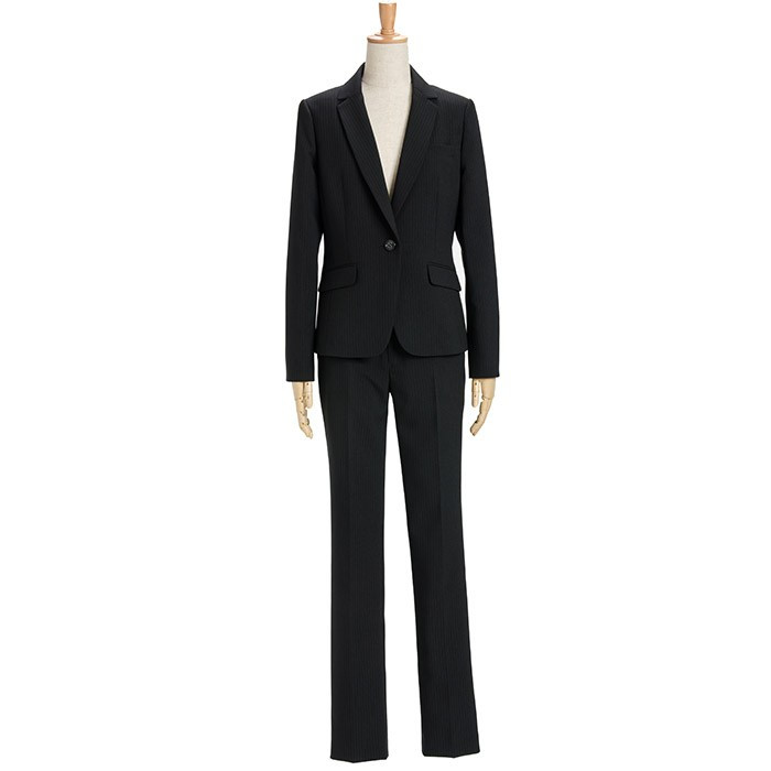 スーツ レディース パンツスーツ ビジネス リクルート ビジネス OL テーラード フルレングス丈 ストレッチ 女性 面接 大きいサイズ 小さいサイズ sutekitaiken 27