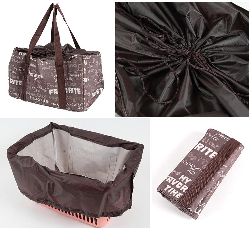 エコバッグ レジカゴバッグ 折りたたみ コンパクト 容量23L (エコバック 折り畳み 買い物袋 買い物バッグ かごバッグ)