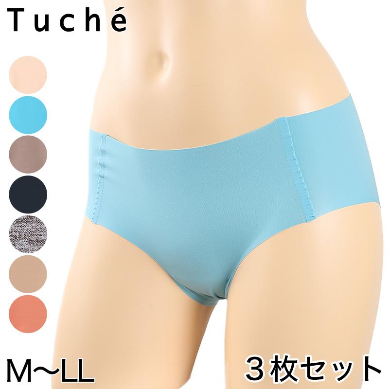 グンゼ Tuche 縫い目0ハーフショーツ 3枚セット