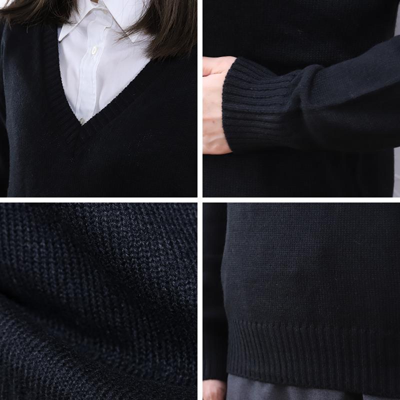スクールセーター 女子 制服 ニット Vネック ウール S〜3L (スクール セーター 学生 レディース 紺 グレー 高校生 中学生 長袖 大きいサイズ S M L LL 3L)