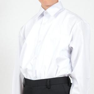 スクールシャツ 男子 長袖 カッターシャツ 制服 110cmA〜180cmB (学生服 シャツ 白 男の子 小学生 中学生 大きいサイズ) (送料無料) (取寄せ) すててこねっと