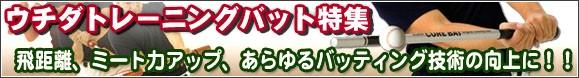 現品限り!激安ウチダトレーニングバット特集!!