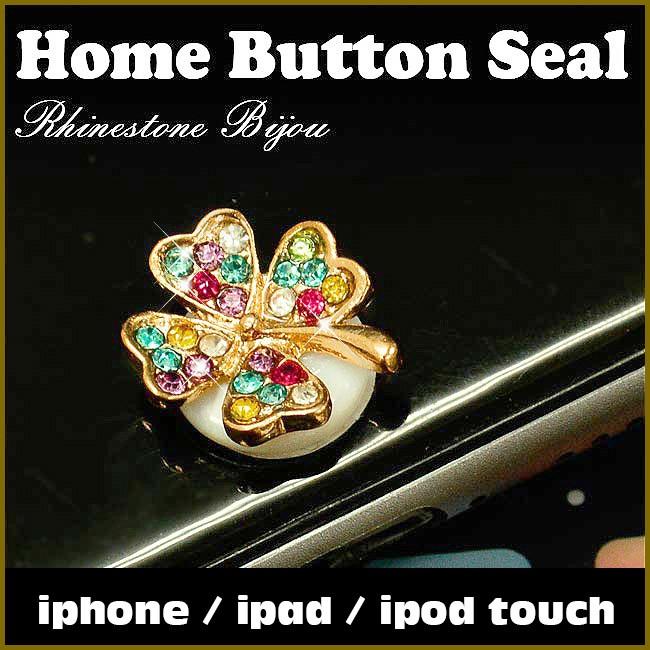 iphone ipad ipad mini ipad air スワロフスキー ホームボタンシール SWAROVSKI