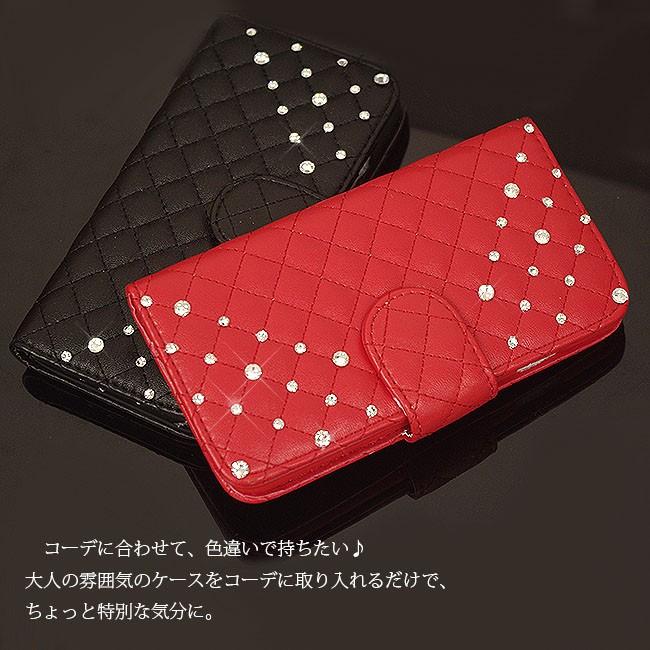 SWAROVSKI クロコ型押しレザー 二つ折り iphone6/5/5sケース
