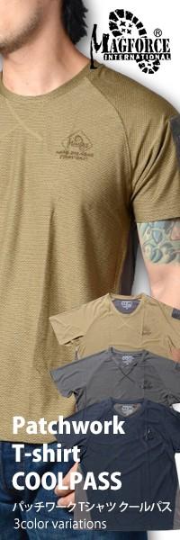 MAGFORCE(マグフォース) Patchwork T-shirt COOLPASS パッチワーク Tシャツ クールパス C-0112