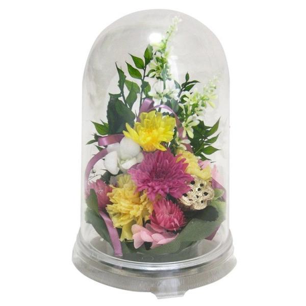プリザーブドフラワー 枯れない 仏花  お供え お悔やみ お花たっぷり ケース入り 喪中はがきが届いたら ドーム|sweet-mixberry|09