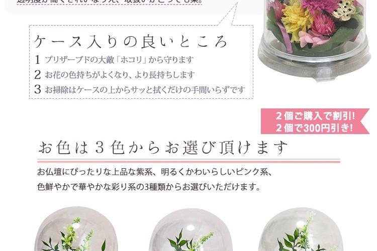ケース入りお供え花