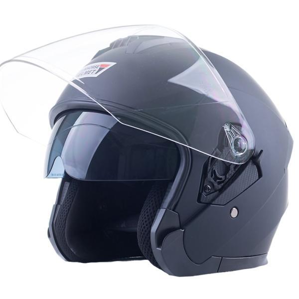 バイクヘルメット ジェット ヘルメット サングラス付き 軽量 Bike Helmet 四季通用 半帽 カッコいいヘルメット 防風防雨メット おしゃれなバイクヘルメット|sweetpeace|23