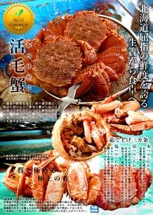 北海道産 活毛ガニ
