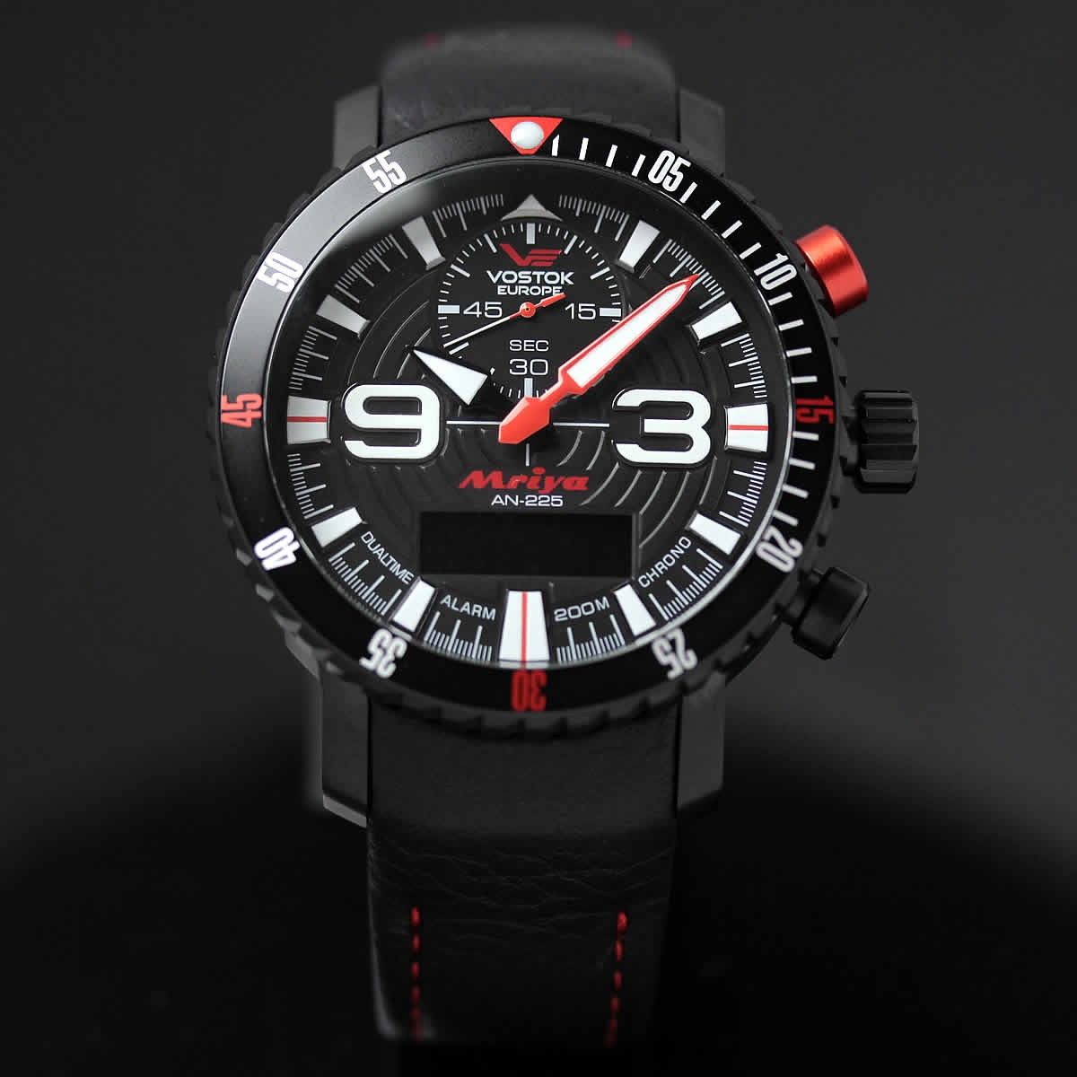 ボストーク ヨーロッパ MRIYA 多機能クォーツ式腕時計 9516-5554250