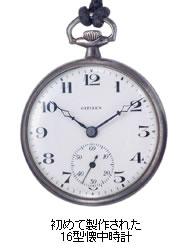 シチズンの前身となる尚工社製の懐中時計