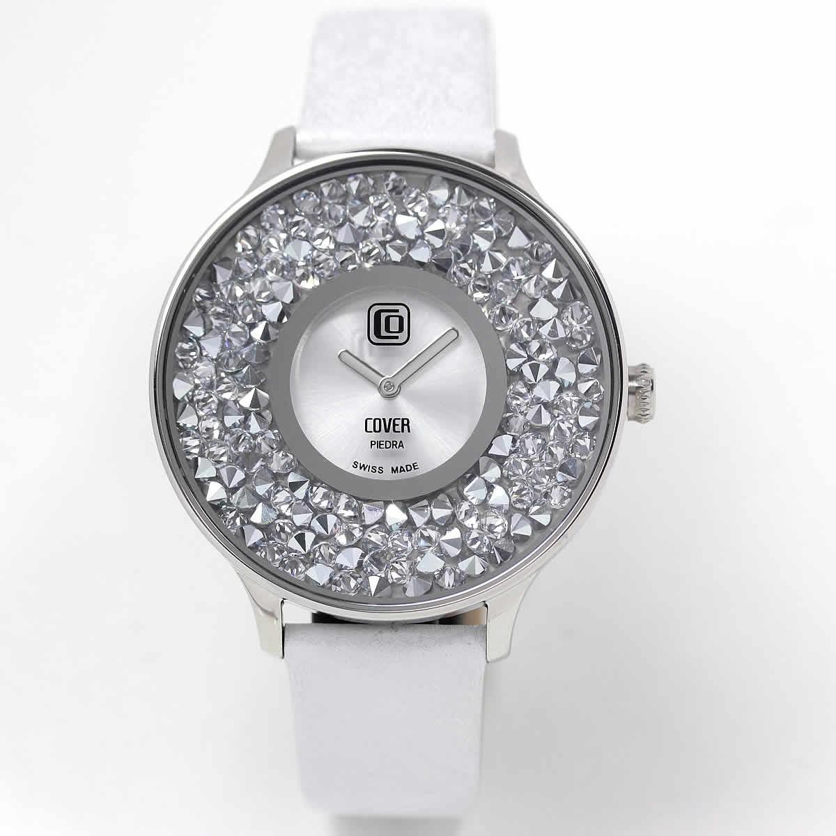 「COVER(コヴァ) TREND PIEDRA Co158.01 ホワイト 女性用腕時計