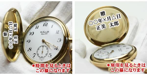 懐中時計 刻印場所 ハンターケース 正美堂時計店