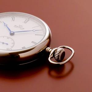 正美堂 マーヴィン オリジナル懐中時計 3時方向に配置したリューズ