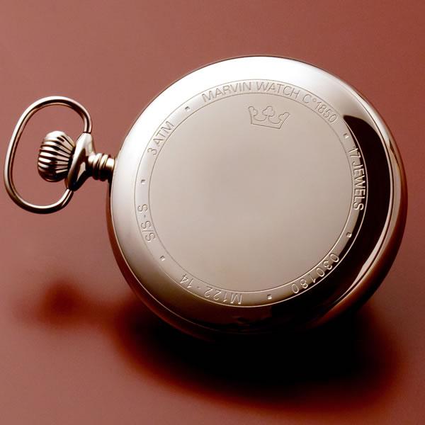 正美堂 マーヴィン オリジナル懐中時計 裏蓋