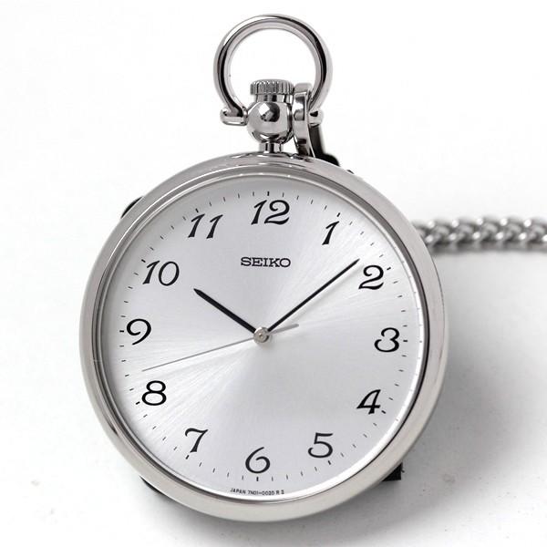 セイコー懐中時計 SAPB003 ケースはステンレス、クォーツ駆動