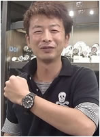 トレーサー腕時計をお買上げいただきました近藤様