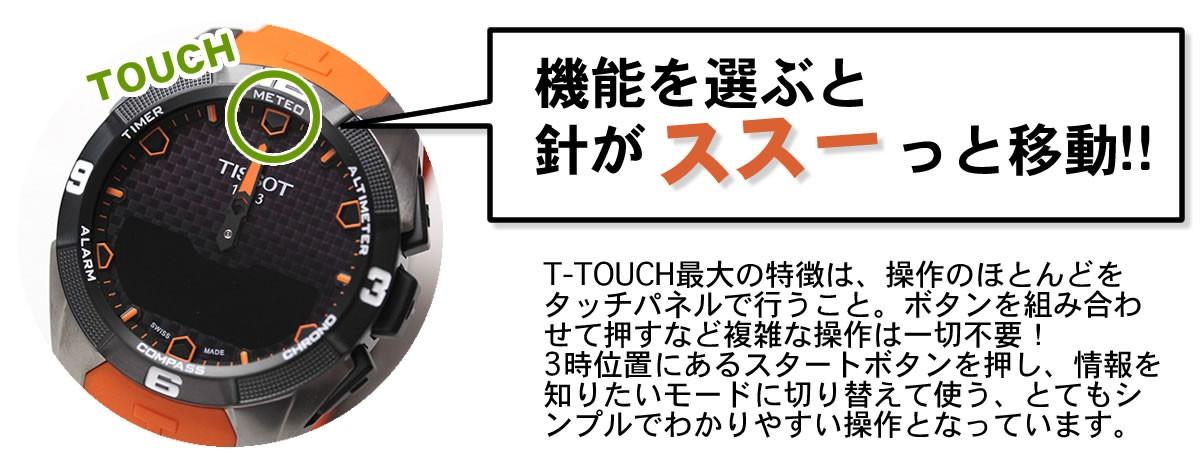 T−タッチ パネル操作