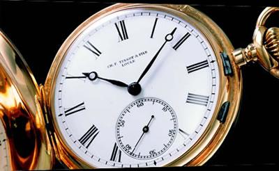 ティソが最初に開発した懐中時計