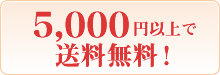 5000円以上で送料無料!