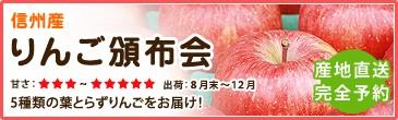 信州産 りんご頒布会 5種類の葉とらずりんごをお届け!