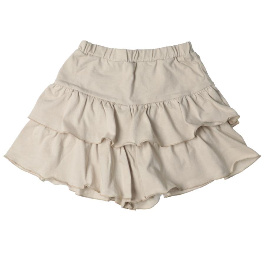 子供服 パンツ キッズ ベビー 女の子 フリルパンツ キュロット ボトムス ショートパンツ キャザー 無地 T2 ティーツー t-2-fashion 17