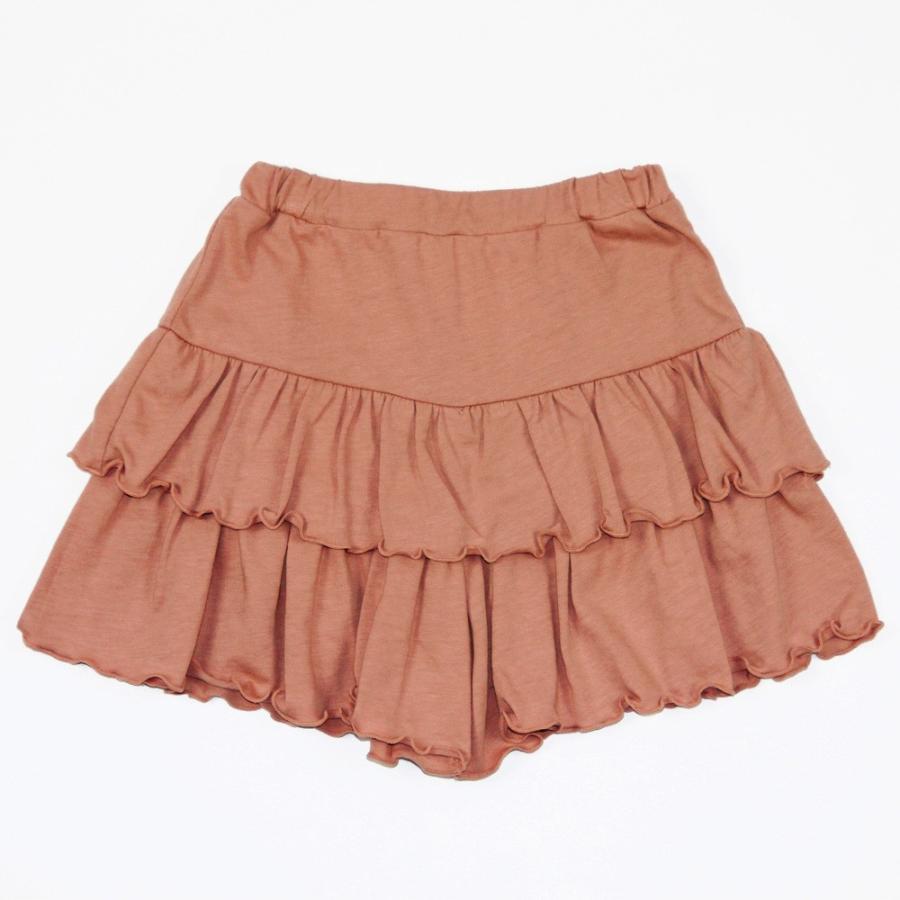 子供服 パンツ キッズ ベビー 女の子 フリルパンツ キュロット ボトムス ショートパンツ キャザー 無地 T2 ティーツー t-2-fashion 18