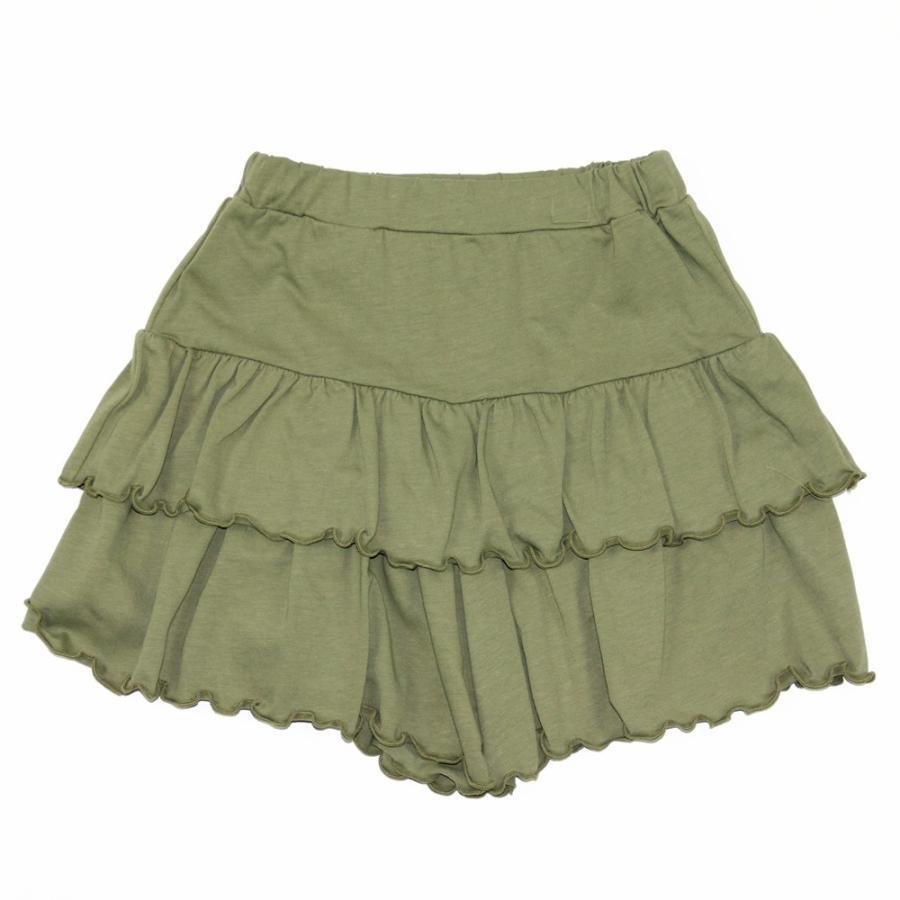 子供服 パンツ キッズ ベビー 女の子 フリルパンツ キュロット ボトムス ショートパンツ キャザー 無地 T2 ティーツー t-2-fashion 19