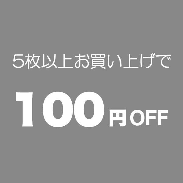 5枚以上のお買い物で100円OFF