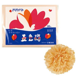 合鹿製紙 お花紙 五色鶴 500枚 全20色 (t0)   おはながみ ペーパーポンポン フラワーポム ポンポンフラワー tabaki2 29