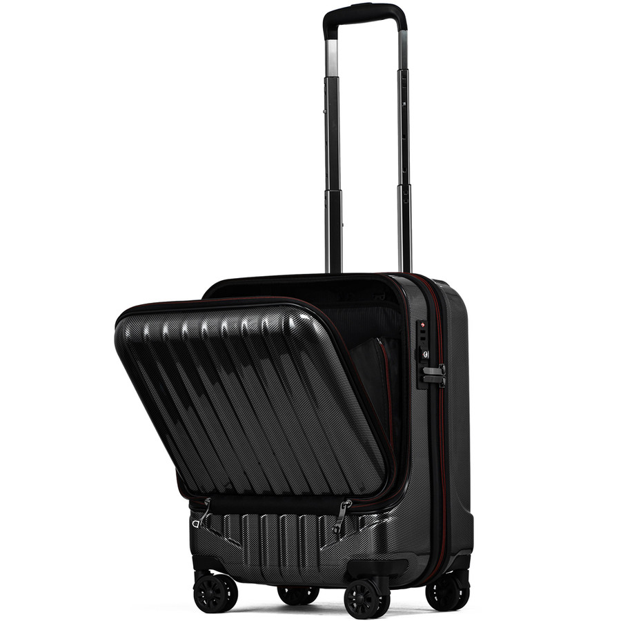スーツケース キャリーケース 機内持ち込み Sサイズ フロントオープン 小型 軽量 ビジネスキャリー キャリーバッグ TSA フロントポケット 人気 おすすめ 出張 tabi 22