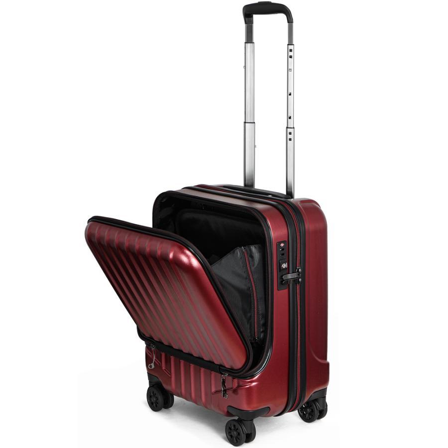 スーツケース キャリーケース 機内持ち込み Sサイズ フロントオープン 小型 軽量 ビジネスキャリー キャリーバッグ TSA フロントポケット 人気 おすすめ 出張 tabi 27