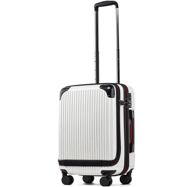 スーツケース 機内持ち込み Sサイズ フロントオープン ファスナー ビジネス キャリーバッグ キャリーケース フロントポケット tabi 23