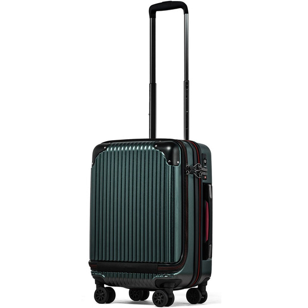 スーツケース 機内持ち込み Sサイズ フロントオープン ファスナー ビジネス キャリーバッグ キャリーケース フロントポケット tabi 24
